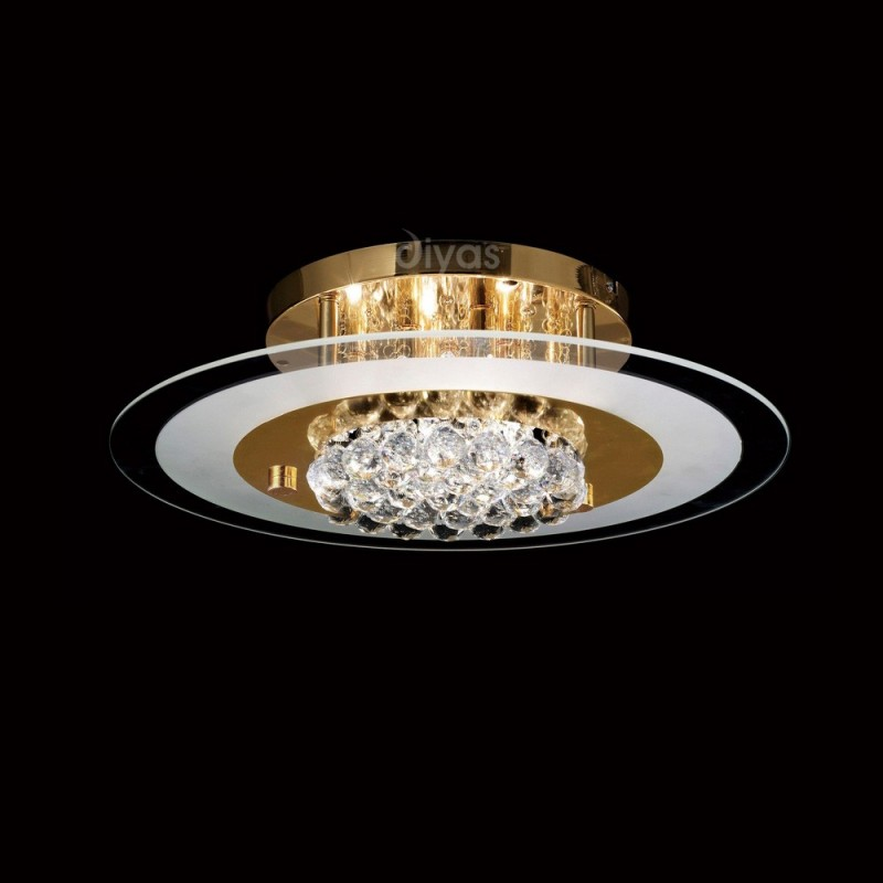 Il32022 delmar 6 light crystal and gold circular flush ceiling light inspired diyas delmar gold and crystal 6 light circular flush ceiling light il32022 aloadofball Images