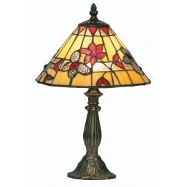 Butterfly Oaks Tiffany style table lamp small