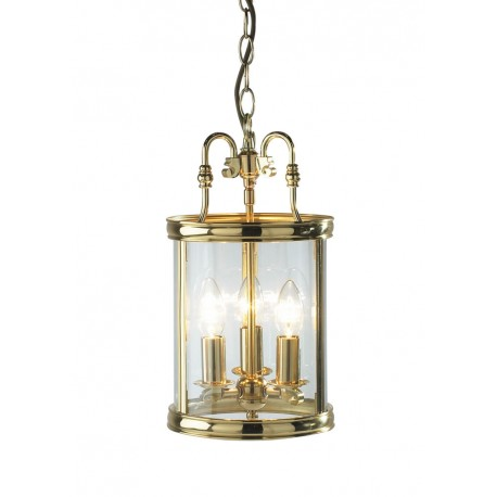 Lambeth polished brass pendant lantern
