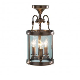 Lambeth antique brass pendant lantern
