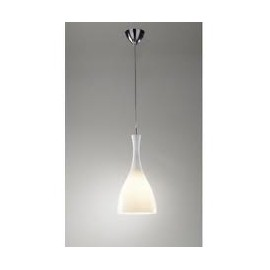 Tone glass pendant white