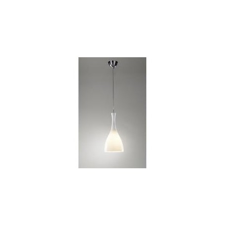 Tone glass pendant white