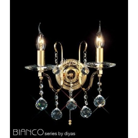 Diyas Bianco 2 light wall light