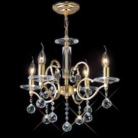 Diyas Zinta 4 light pendant gold plated