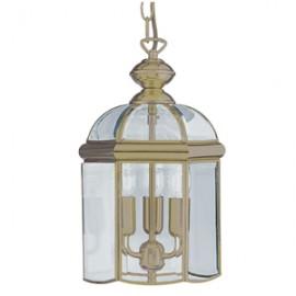 Searchlight 3 light antique brass lantern