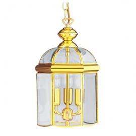 Searchlight 3 light polished brass lantern
