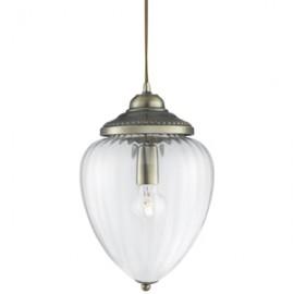 Searchlight 1 light antique brass glass lantern