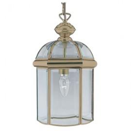 Searchlight 1 light antique brass lantern
