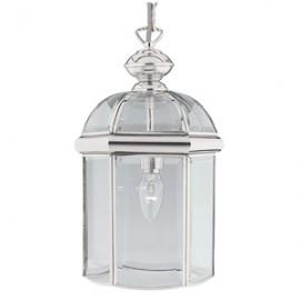 Searchlight 1 light chrome glass lantern