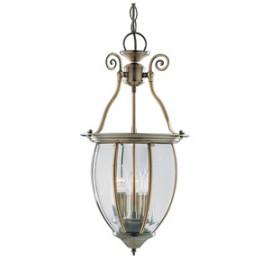Searchlight hanging lantern 3 light in antique brass