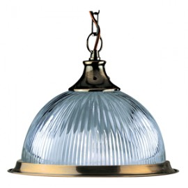 Searchlight 1 light American diner pendant antique brass
