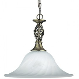 Searchlight 1 light Cameroon antique brass pendant