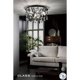 Diyas Class 20 light crystal ceiling light