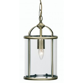 Oaks Fern 1 light pendant antique brass