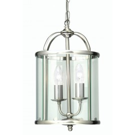 Oaks Fern 2 light pendant antique chrome