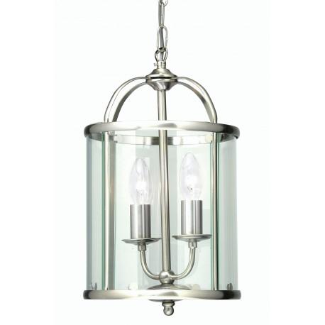Oaks Fern 2 light pendant antique chrome