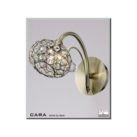 Cara Diyas 1 light crystal wall lamp Antique brass
