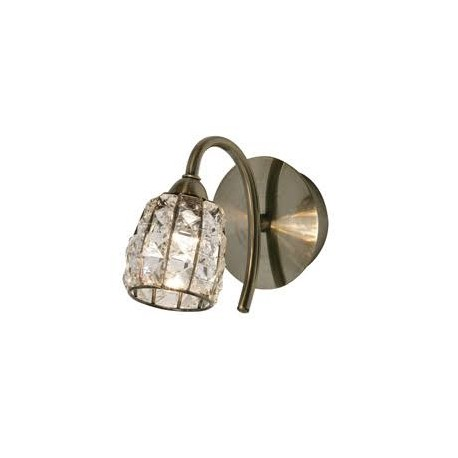 Oaks Lighting 5157-1AB Naira wall light in antique brass