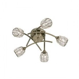 Oaks Lighting 5157-5AB Naira 5 light ceiling antique brass