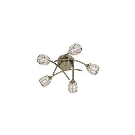 Oaks Lighting 5157-5AB Naira 5 light ceiling antique brass