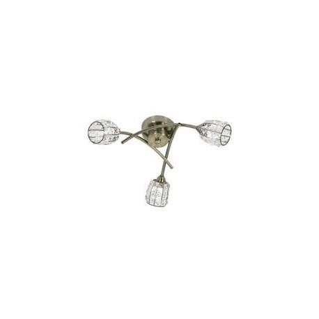 Oaks Lighting 5157-3AB Naira 3 light ceiling antique brass
