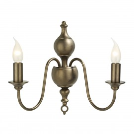 Flemish 2lt wall light Matt bronze