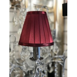 Dark red 6 inch candle shade