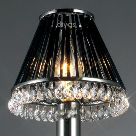 Diyas Crystal clip on shade black chrome