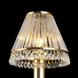 Diyas Crystal clip on shade gold plated