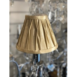 253 Gold 6 inch pinch pleat shade