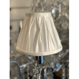 "Garbo 6"" pinch pleat candle light shade"