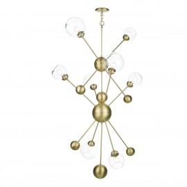 DAVID HUNT LIGHTING, Cosmos 8 light Pendant in Butter brass