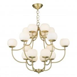 DAVID HUNT LIGHTING, Opera 18 light pendant in butter brass