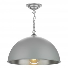 DAVID HUNT LIGHTING, Ealing Large, in Powder grey/brushed chrome