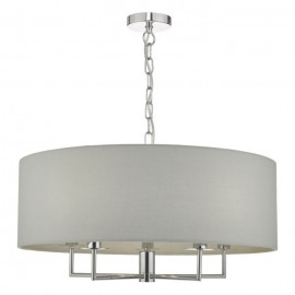 Jamelia 5 light Pendant Polished Chrome