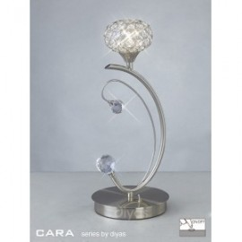 Inspired Diyas cara satin nickel and crystal 1 light table lamp IL30939