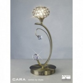 Inspired Diyas cara antique brass and crystal 1 light table lamp IL30949