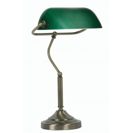 Oaks Bankers Lamp antique brass