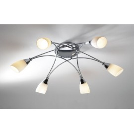 Bureau 6 light semi flush