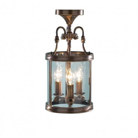 Lambeth antique brass pendant lantern