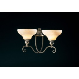 Stratford 2 light aged brass wall light