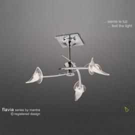 Flavia 3 light flush polished chrome