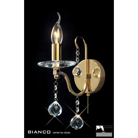 Diyas Bianco 1 light wall light