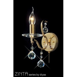 Diyas Zinta 1 light wall bracket gold plated