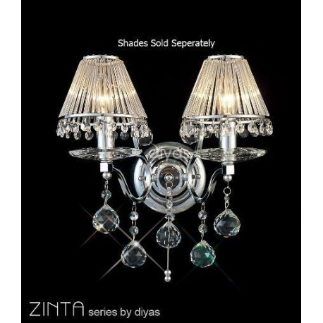 Diyas Zinta 2 light wall bracket