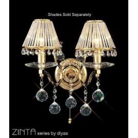 Diyas Zinta 2 light wall bracket gold plated