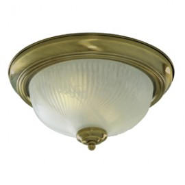 Searchlight 2 light opal glass in antique brass
