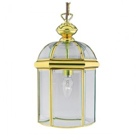 Searchlight 1 light polished brass lantern
