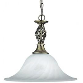 Searchlight 1 light Cameroon antique brass pendant