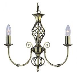 Searchlight 3 light Zanizbar antique brass fitting